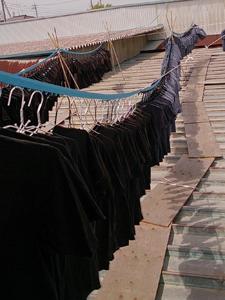 常総Tシャツ工場洗濯中